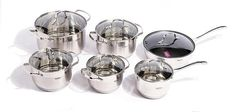 One or Two Stainless Steel Pot Sets from AED 219 (Up to Off) - DiscountSales.ae - Discount Sales, Special Offers and Deals in Dubai UAE Dubai Offers, Stainless Steel Pot, Pots And Pans Sets, Pan Set, Gas Stove, Household, Ceramics, Dubai Uae, Accessories