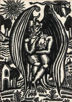 By Artemio Rodríguez Cornejo, 1995. (Scanned from the cover of the book El diablo en México, by Juan Díaz Covarrubias.)
