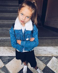 Anna Pavaga was born on November 2009 in Saint Petersburg, Russia. Baby Girl Fashion, Toddler Fashion, Kids Fashion, Look Of Young, Anna Pavaga, Toddler Girl Outfits, Kids Outfits, Next Top Model, Mommy Style