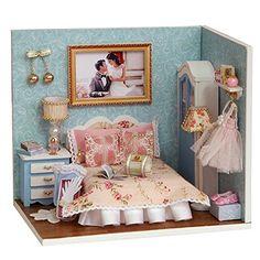 Flever Dollhouse Miniature DIY House Kit Creative Room Wi...
