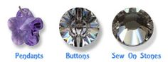 Click here to buy Swarovski Crystals or CRYSTALLIZED™ - Swarovski Elements beads, Pearls and Sew on stones online.