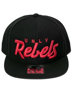 UNLV Rebels Black Script Snapback