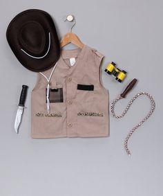 Khaki Adventurer Vest Dress-Up Set