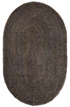 6' x 9' Oval Kerala Gray Jute Rug Bamboo Rug, Braided Area Rugs, Natural Fiber Rugs, Natural Texture, Morrocan Rug, Rugs Usa, Jute Rug, Weaving Techniques, Carpet Runner