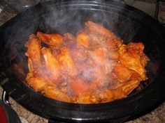 Honey Garlic Chicken Wings (in the crock pot!) ... 5 ingredients, so easy!