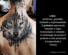 Lobo x Pinheiro Facebook Sign Up, Tattoo Meanings, Loyalty, Pine Tree, Spirituality, Tattoos