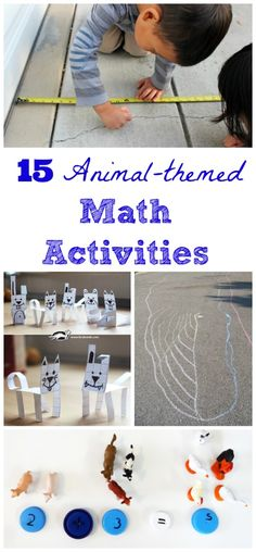 These animal-themed math activities are perfect for preschoolers, kindergarten and elementary students as they practice counting, sorting, graphing & measurement! Animal Activities For Kids, Kids Learning Activities, Math For Kids, Preschool Activities, Preschool Kindergarten, Fun Learning, Early Learning, Nursery Activities, Preschool Curriculum