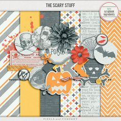 Quality DigiScrap Freebies: The Scary Stuff mini kit freebie from Digital Scrapbook Ingredients