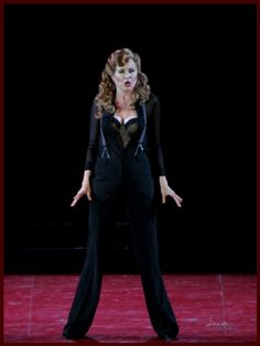 Lucy Lawless as Mama Morton in Chicago The Musical at the Hollywood Bowl