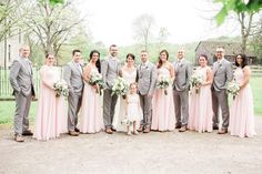 Blush & gray bridal party | Sarah Renee Studios | see more at http://fabyoubliss.com