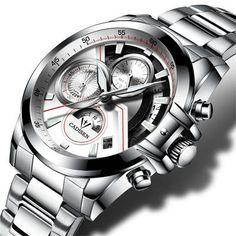 relogio masculin Cadisen Mens Watch Auto Date Military Sport Watches Men Waterproof Stainless Steel Quartz Watch Men army Clock