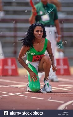 Stock Photo - Florence Griffith Joyner competing at the 1988 US Olympic Track and Field Trials Olympic Track And Field, Track Field, Flo Jo, Olympic Trials, Jet Magazine, Us Olympics, Beautiful Black Women, Black History, Florence