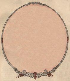 Vintage Oval Frame ~ LÁMINAS ANTIGUAS 3-Ideas y Trabajos terminados (pág. 799) | Aprender manualidades es facilisimo.com