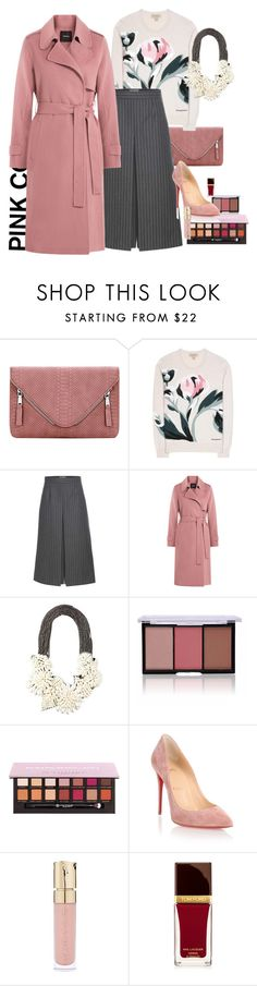 """""""Pink lady"""" by claire86-c ❤ liked on Polyvore featuring Burberry, Yves Saint Laurent, Theory, Vera Wang, Christian Louboutin, Smith & Cult and Tom Ford"""