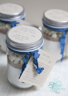 #DIY ~ 12oz. Mason Jar Cookie Mix Favor... so easy, so cute, and delicious cookies!!!