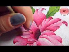 Cómo Pintar Una Flor (Resucitado) en Tela - YouTube