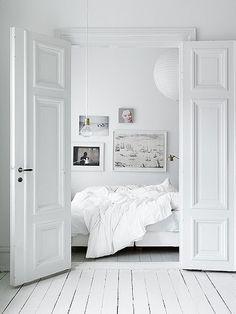 white floor...