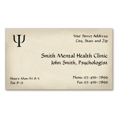Psychiatrist Mental Health Business Card. Make your own business card with this great design. All you need is to add your info to this template. Click the image to try it out!