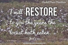 Rachel Marie Ministries: OUR GOD IS A GOD OF RESTORATION