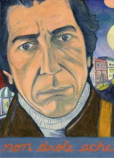 Leonard Cohen - Print 7 x 9 Montreal Sky Online, Leonard Cohen, Montreal, Two By Two, Original Paintings, Enabling, Portrait, Card Stock, Prints