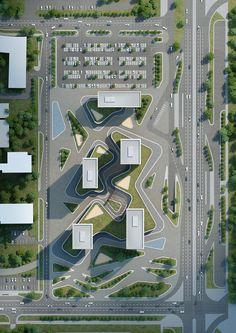 Architecture Site Plan, Masterplan Architecture, Architecture Concept Drawings, Architecture Diagrams, Landscape Design Plans, Landscape Architecture Design, Urban Architecture, Architecture Portfolio, Urban Design Concept