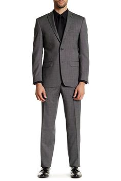 Charcoal Pindot Two Button Notch Lapel Wool Suit by Spurr by Simon Spurr on @nordstrom_rack