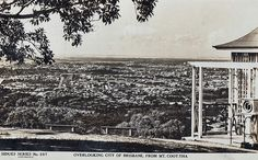Overlooking the city of Brisbane from Mt. Coot-tha - 1937 | by Aussie~mobs