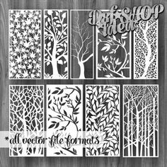 This Vectors File 9 Pcs Pattern Tree Set Flowers Decorative Stained Glass Screens Wooden plasma waterjet laser cut CNC File Corel Art SVG DWG is just one of the custom, handmade pieces you'll find in our craft supplies & tools shops.
