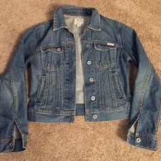 Lucky jacket Adorable Lucky jean jacket. Brand new condition. Lucky Brand Jackets & Coats Jean Jackets