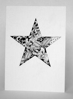 How to draw christmas cards - Christmas Star