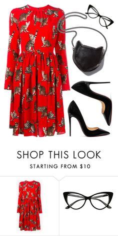 """""""Untitled #1431"""" by christawallace on Polyvore featuring Dolce&Gabbana, STELLA McCARTNEY and Christian Louboutin"""