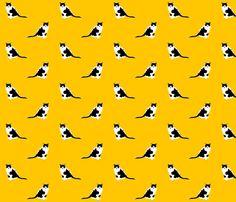 Squeak Cat Fabric fabric by primenumbergirl on Spoonflower - custom fabric