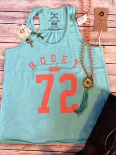 official photos 881ae 4b6ac Just in from Hooey!! Women s turquoise tank with Hooey since 1972. Super  soft