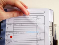 Arc It - A Blog About Staples Arc Notebooks  Great idea - ARC punch a piece of acetate to use as a dashboard in your planner so you can put post-its on it, yet still have access to your info on the page below it.