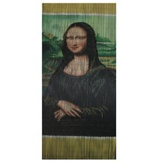 Buy the Mona Lisa Beaded Door Curtain featuring a striking interpretation of the famous Da Vinci Mona Lisa painting. Great value, best prices.