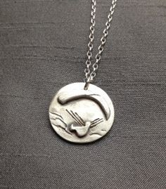 Paragliding Pendant Necklace by BitsofSilver; Handcrafted in fine silver clay (.999% Pure Silver), a made-to-order design.($60+)