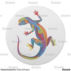 Painted Lizard Eraser #lizard #animals #reptiles #art #design