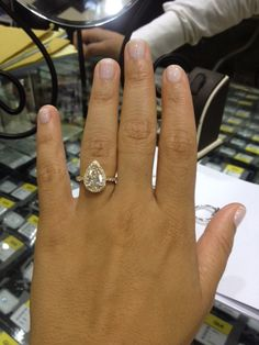 Pear Shaped Diamond in Gold | Engagement Ring