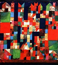 Paul Klee, City Architecture with red and green