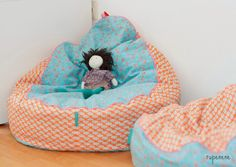 rupenene Bean Bag baby Toddler Baby Kind selber nähen Sitzsack Lümmelsack Sitzkissen Straight Grain pattern Jinnyjou Jolijou