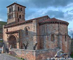 Iglesia románica de Cervatos: Una nave y cabecera de un solo ábside de planta semicircular