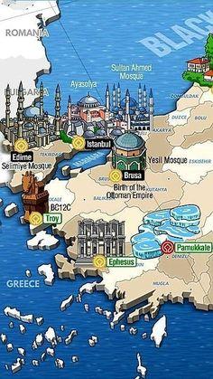 Pin Board:Reisen/Urlaub Pin Title:(notitle) travel travel travel travel in europe travel Travel Maps, Train Travel, Travel Posters, Travel Europe, Turkey Destinations, Travel Destinations, Antalya, Buch Design, Diy Design