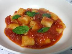 Ricotta Dumplings with Tomato and Basil Sauce by Gennaro Contaldo from Two Greedy Italians Cookbook.