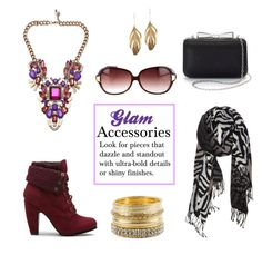 """Glam Accessories"" by horse-dance-princess on Polyvore featuring Oliver Peoples, Aurélie Bidermann, La Regale, BKE and Nordstrom"