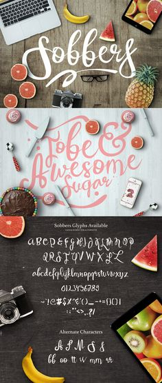 Sobbers Typeface by Maulana Creative on Creative Market Hand Lettering Fonts, Handwriting Fonts, Brush Lettering, Lettering Design, Lettering Styles, Lettering Tutorial, Cool Typography, Typography Letters, Cool Fonts