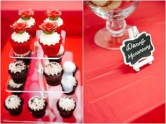 Cupcakes + sweet label from a Snow White Birthday Party via Kara's Party Ideas | KarasPartyIdeas.com - The Place for All Things Party! (8)