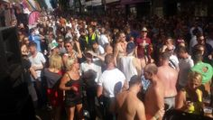 Brighton Pride Street Party view from the dj booth 2015 on St James St. Disco Takeover vibes.