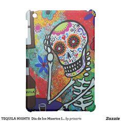 TEQUILA NIGHTS  Dia de los Muertos IPad Case 30% off with code BLACKFRISAVE