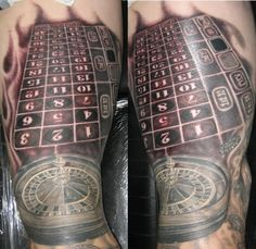 Roulette table tattoo