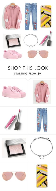 """Pink"" by noabruggers ❤ liked on Polyvore featuring Kenzo, Burberry, MANGO, Quay and Rifle Paper Co"